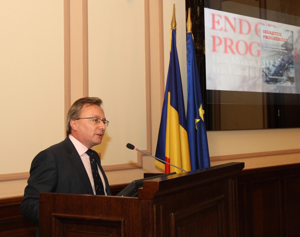 ARCoR launches the Romanian translation of THE END OF PROGRESS – HOW MODERN ECONOMICS HAS FAILED US, signed by Graeme Maxton, Secretary General CoR